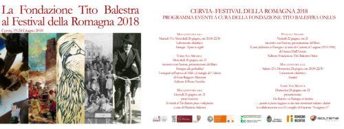 FONDAZIONE TITO BALESTRA ONLUS AL FESTIVAL DELLA ROMAGNA 2018 – CERVIA