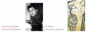 """""""Un poeta allo specchio, l'archivio di Tito Balestra"""" e """"Linoleografie ed Epigrammi"""""""