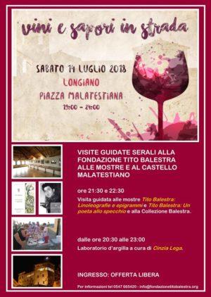 Vini e Sapori in strada 2018 alla Fondazione Tito Balestra Onlus