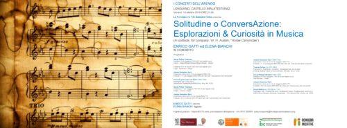 """I CONCERTI DELL'ARENGO : Solitudine o ConversAzione: Esplorazioni & Curiosità in Musica ( In solitude, for company W. H. Auden, """"Horae Canonicae"""")"""