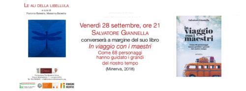 """LE ALI DELLA LIBELLULA – autunno 2018 – Salvatore Giannella presenta """"In viaggio con i maestri"""""""