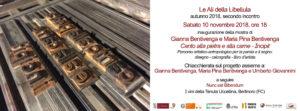 """LE ALI DELLA LIBELLULA – autunno 2018 – Inaugurazione della Mostra """"""""Canto alla pietra e alla carne – Incipit"""""""