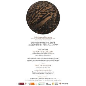 """LE ALI DELLA LIBELLULA – primavera 2019 – Inaugurazione e visita alla mostra """"Il punto Il circolo"""""""