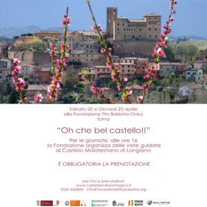 20 e 25 Aprile 2019 – Oh, che bel Castello! alla Fondazione Tito Balestra Onlus