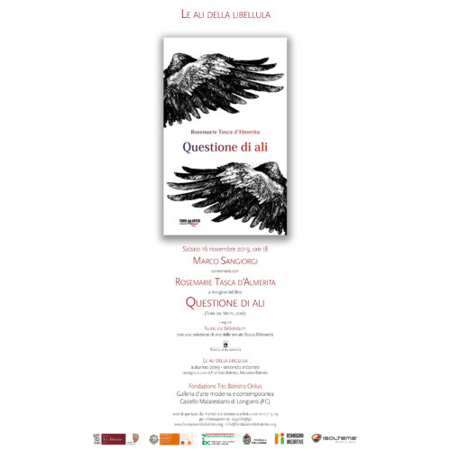 """Le ali della libellula – Autunno 2019 – Presentazione del libro di Rosemarie Tasca D'Almerita """"Questione di Ali"""""""