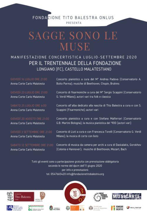 SAGGE SONO LE MUSE – Manifestazione concertistica per il trentennale della Fondazione