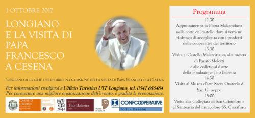 Longiano e la visita di papa Francesco a Cesena
