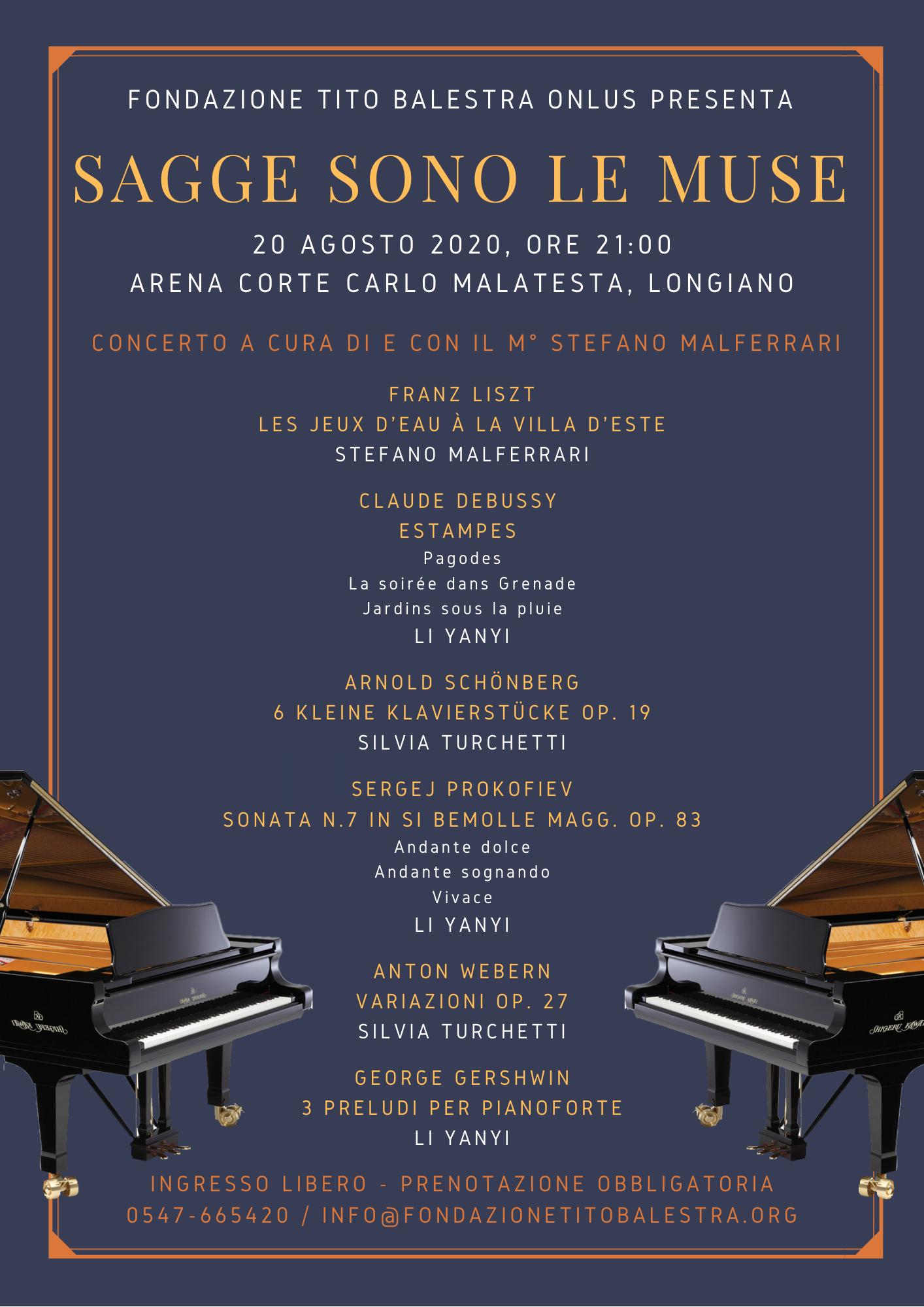 Programma di sala 20 agosto 2020